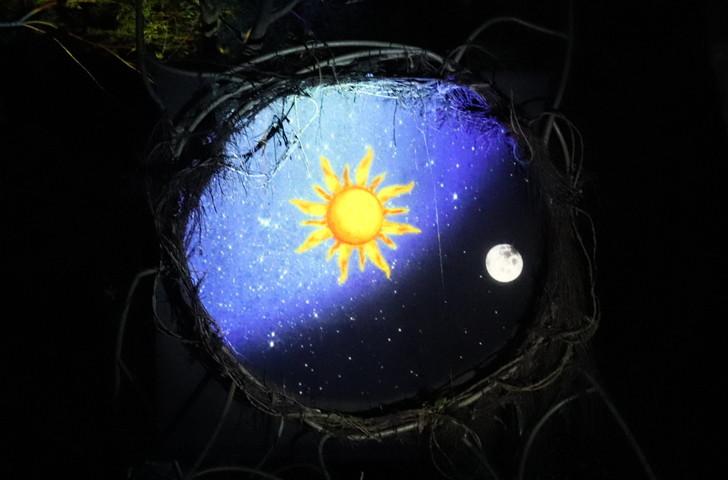 ナイトウォーク火の鳥・時空の穴で不思議な映像体験