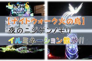 夜のニジゲンノモリ【ナイトウォーク火の鳥】イルミネーション散歩!!