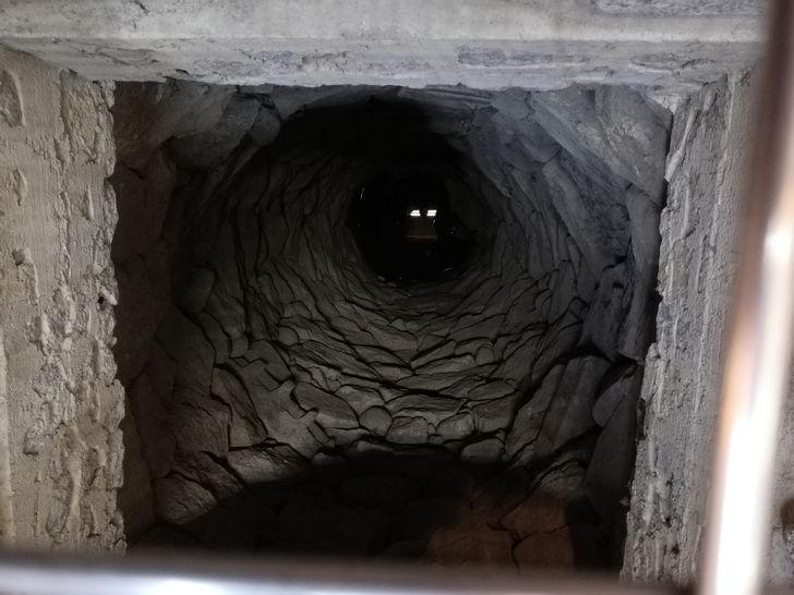 伊賀上野城の小天守にある「忍び井戸」