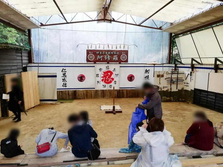 伊賀流忍者博物館の「忍術実演ショー」