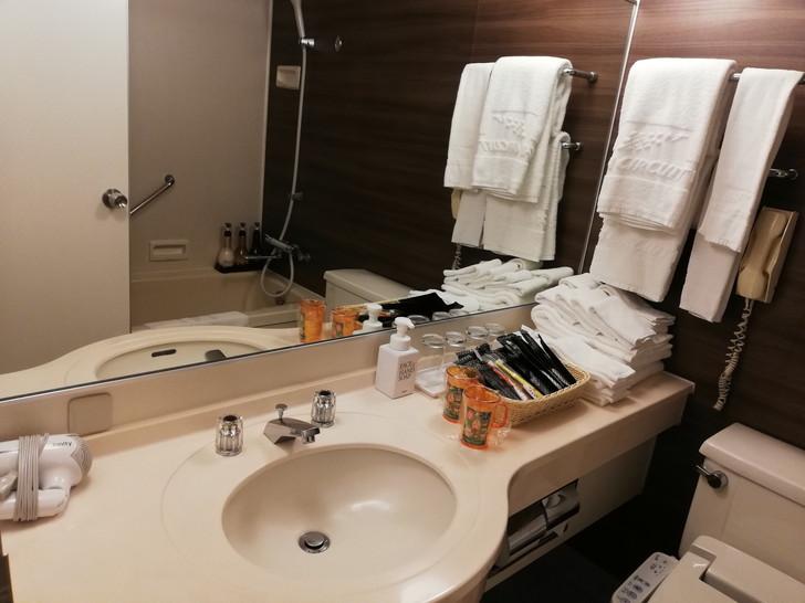 鈴鹿サーキットホテル『North館』レーシングルームの洗面所
